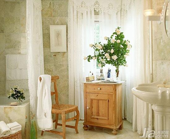 浴室里的田园小清新 开启一天好心情