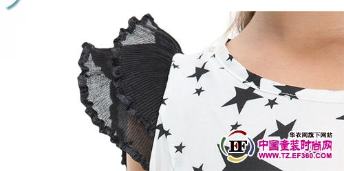 翘嘴蛇星星图案 黑白经典连衣裙  生活